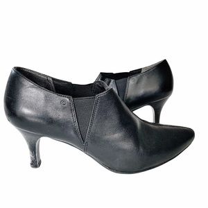 Rockport Black Leather Pointed Toe Ankle Boots